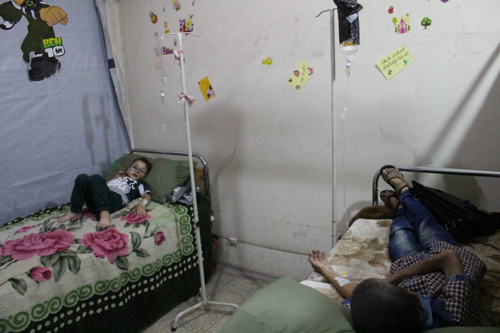 Recent photo of the Dar Al-Rahma Center for Cancer in Eastern Ghouta. Photo taken by the media officer of the center and republished with permission.