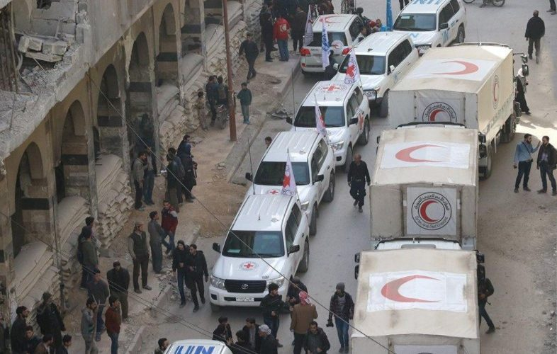 Reuters: Aid reaches Ghouta but retreats after shelling; Syria presses assault